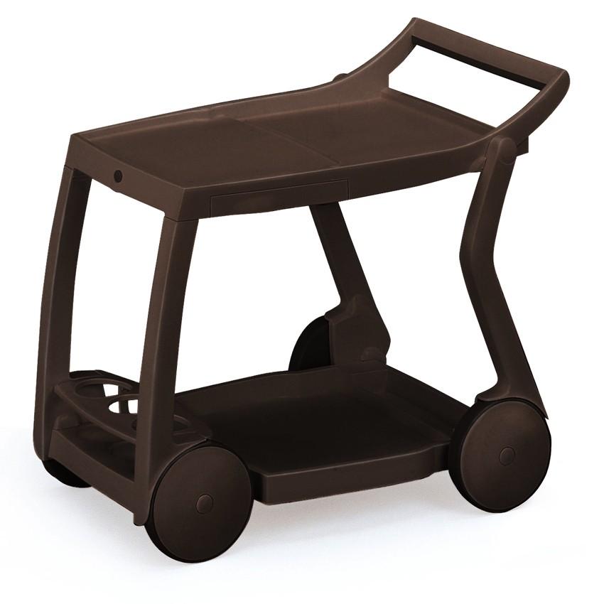 Serveerwagen Galileo (inklapbaar) kunststof bruin, Best Freizeitmöbel