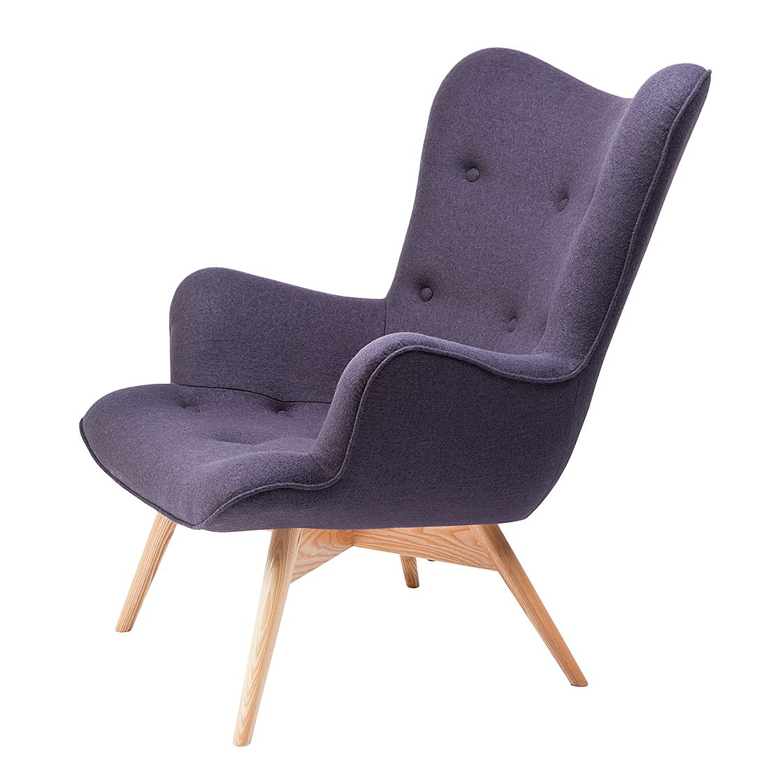 Fauteuil Angels Wings - Tissu - Gris, Kare Design
