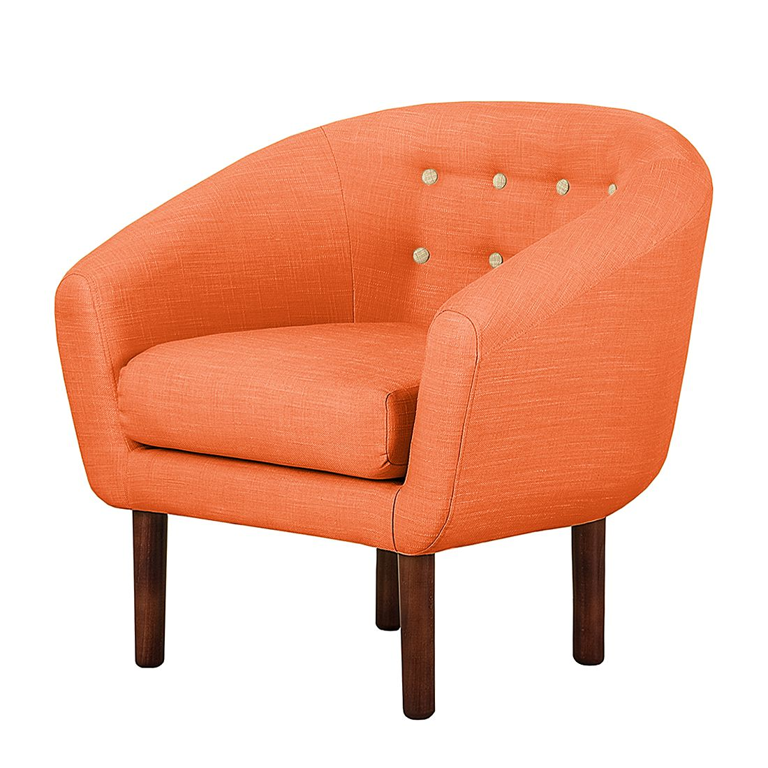 Sessel Anna II - Webstoff - Orange, Morteens