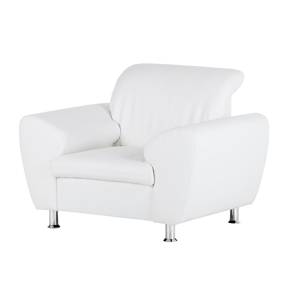 Fauteuil Aras - Cuir synthétique - Blanc, loftscape
