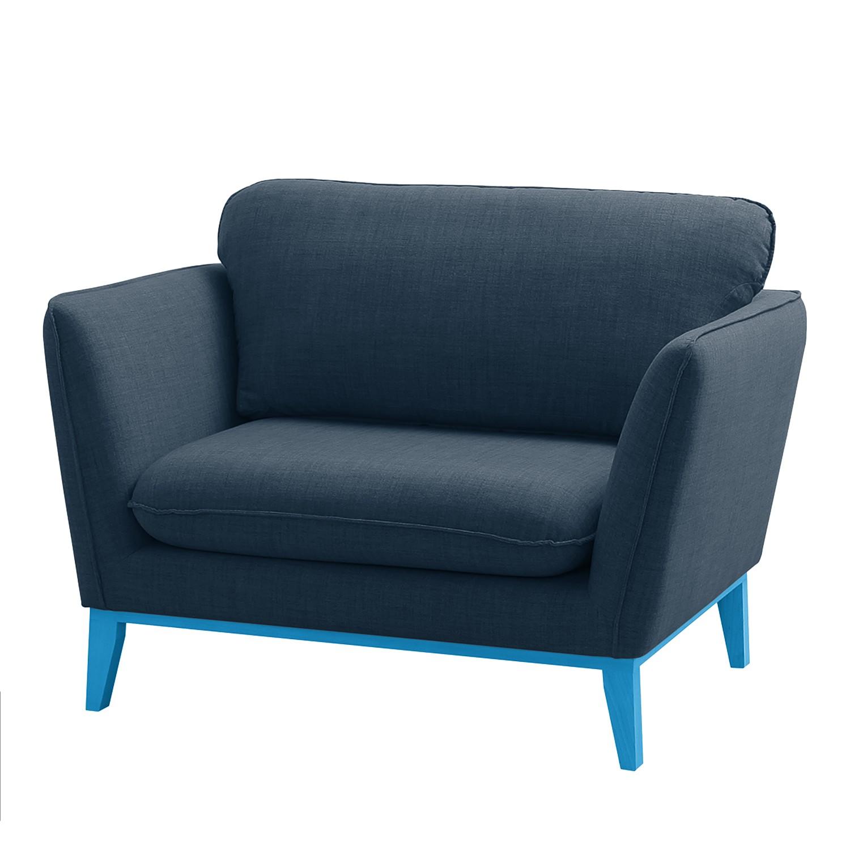 Fauteuil Argoon - Tissu - Pieds : bleu - Bleu foncé, Morteens