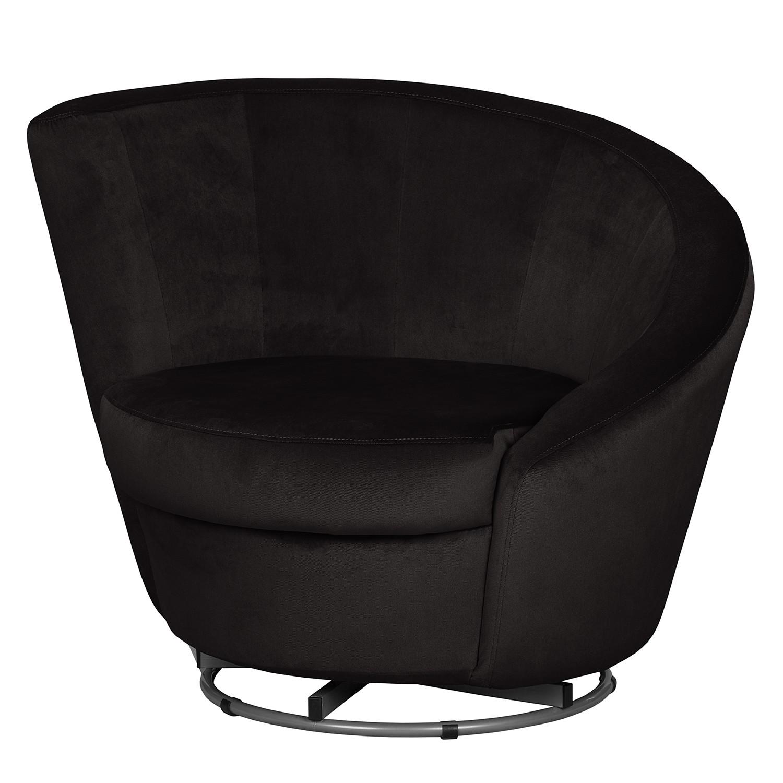 Fauteuil pivotant Baston - Microfibre - Noir, mooved