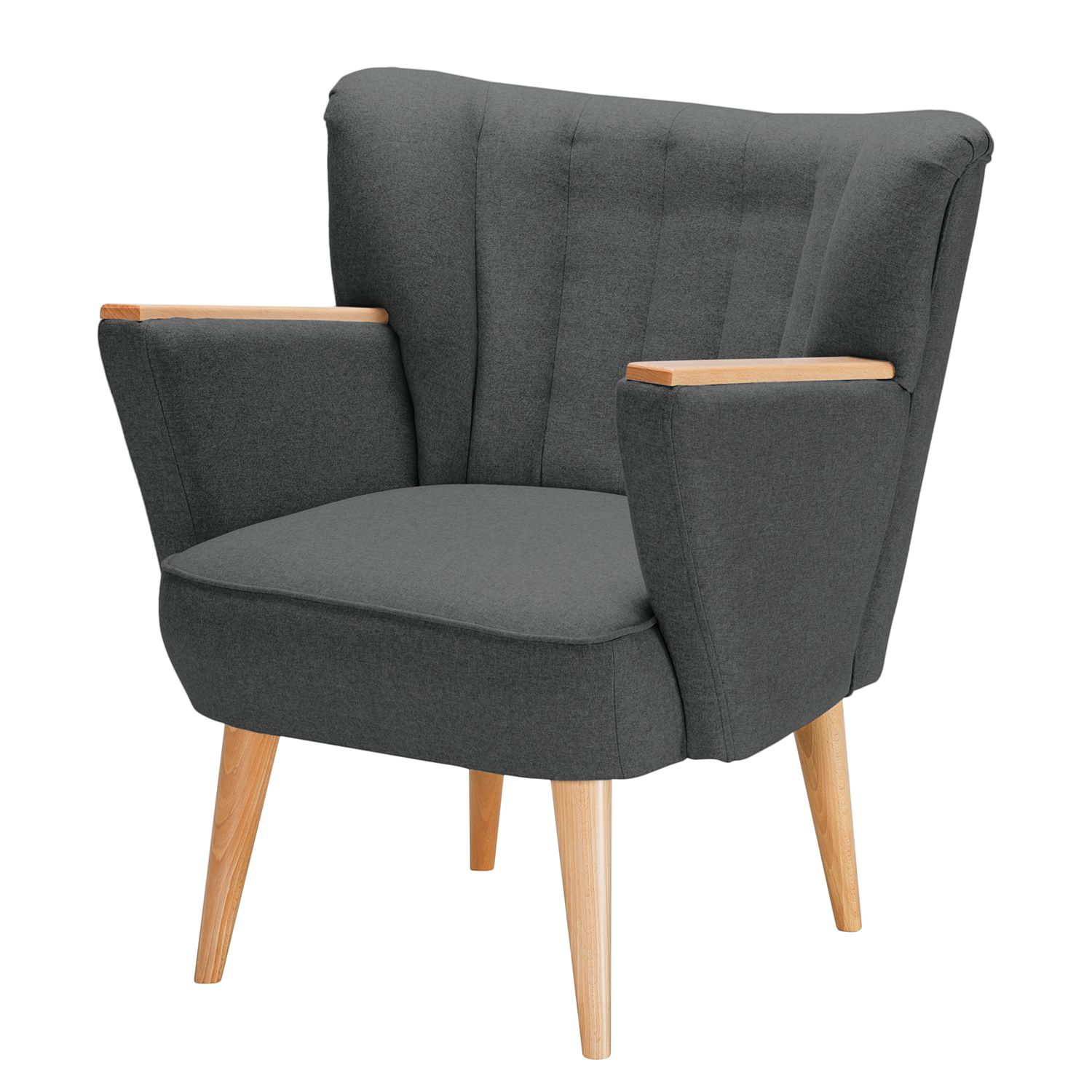 Fauteuil Bauro I - Feutre - Anthracite, Morteens