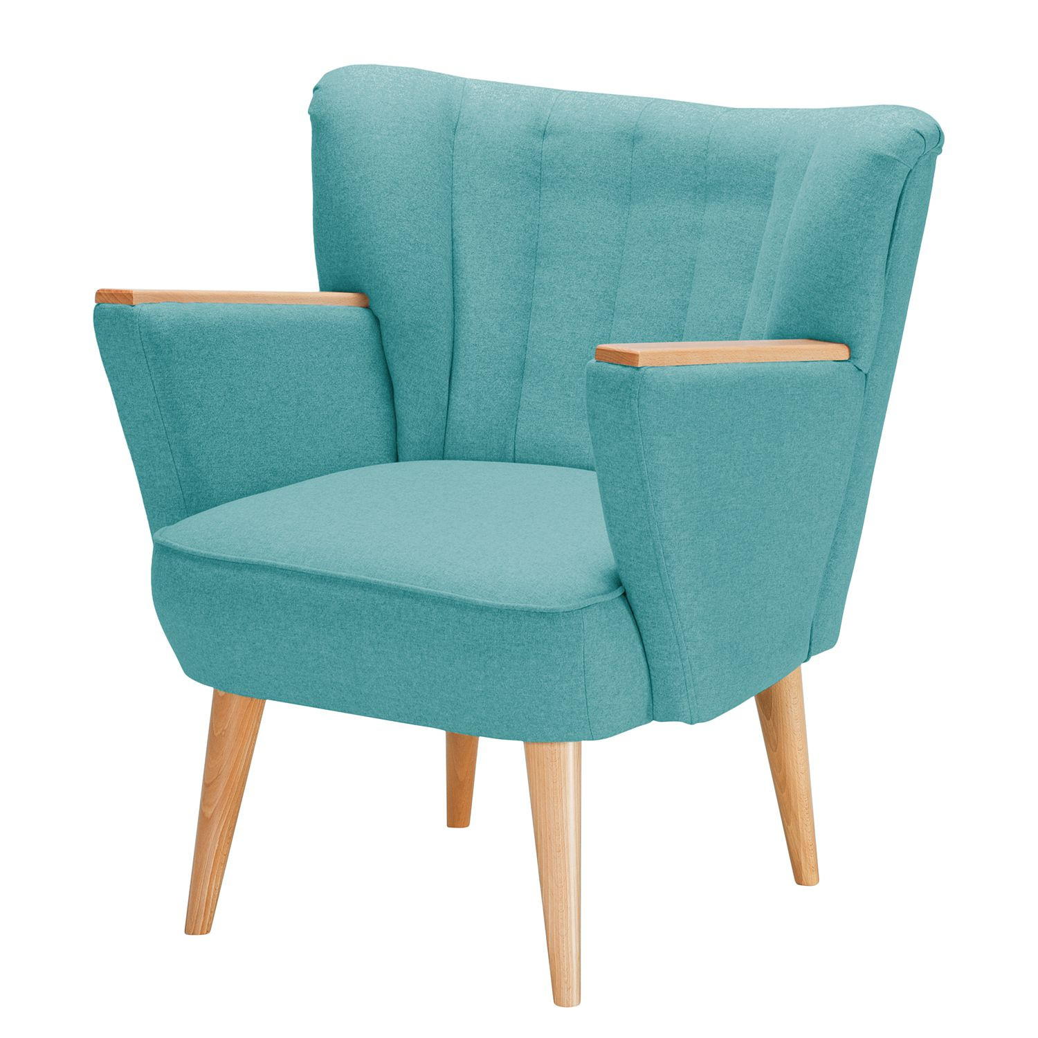 Fauteuil Bauro I - Feutre - Turquoise, Morteens