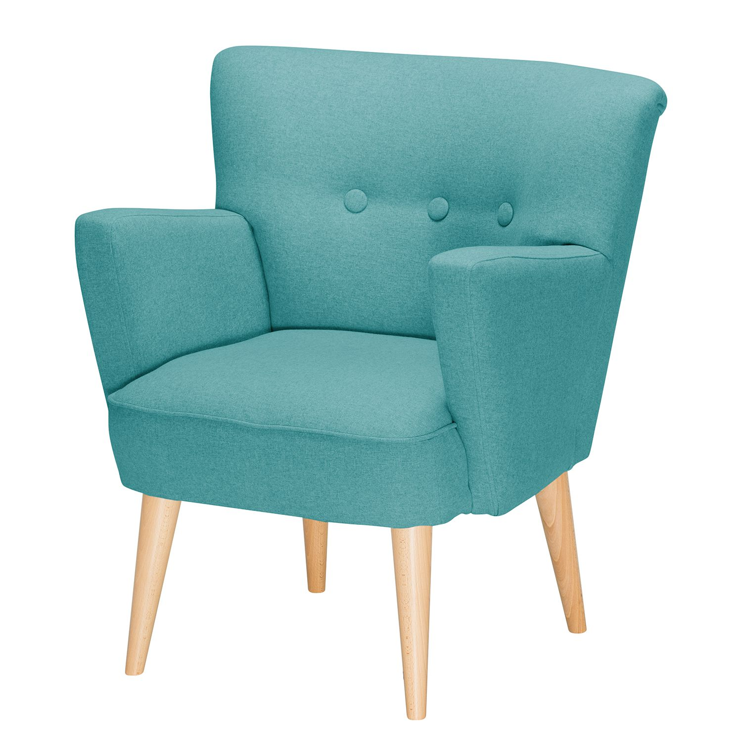 Fauteuil Bauro II - Feutre - Turquoise, Morteens