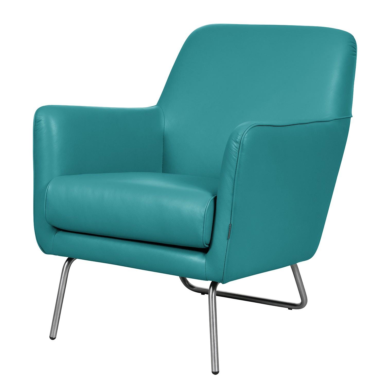 Fauteuil Bebour - Cuir véritable - Turquoise, Says Who