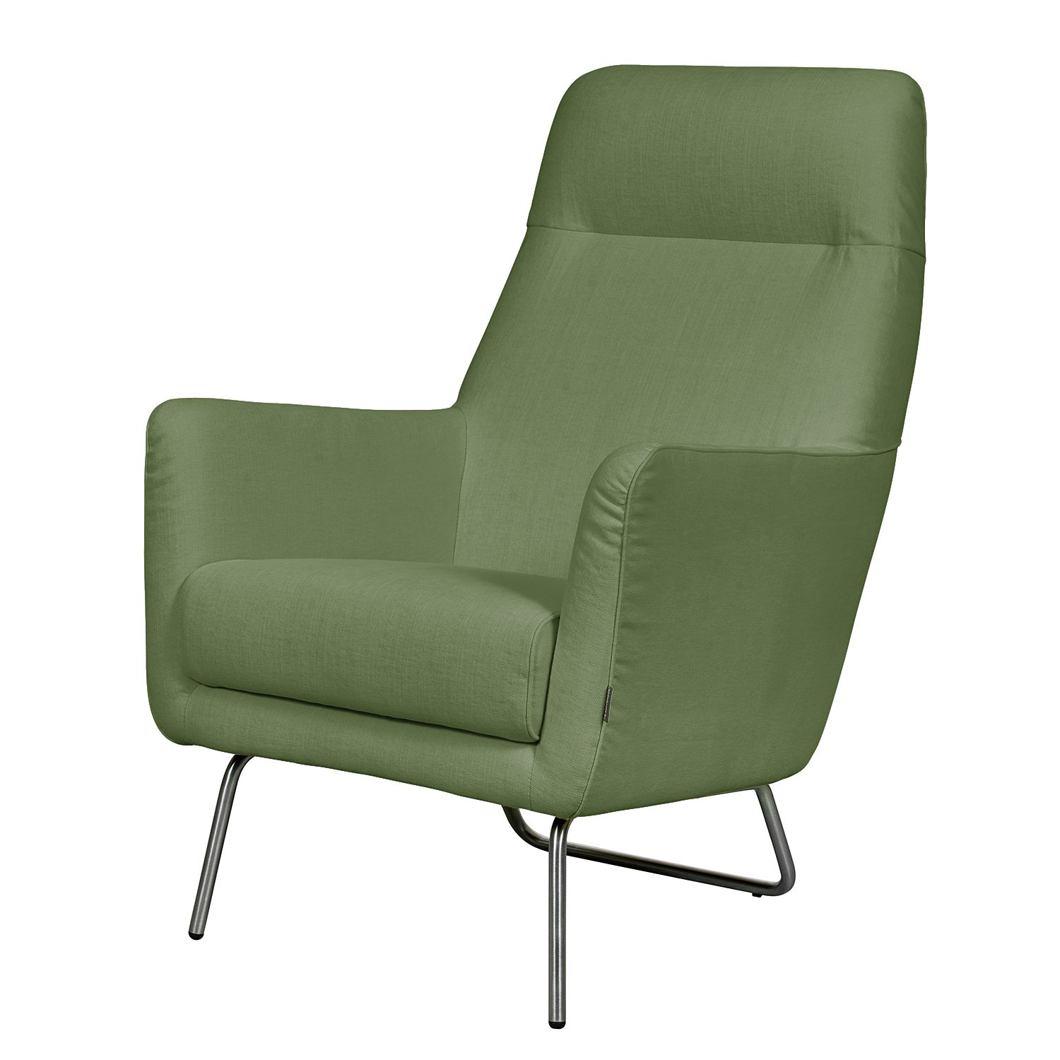 Fauteuil Bebour - Tissu - Vert olive, Says Who