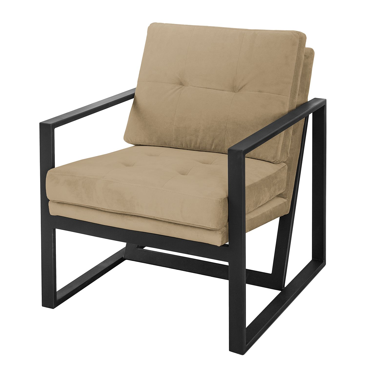 Fauteuil Brock I - Velours - Cappuccino, ars manufacti