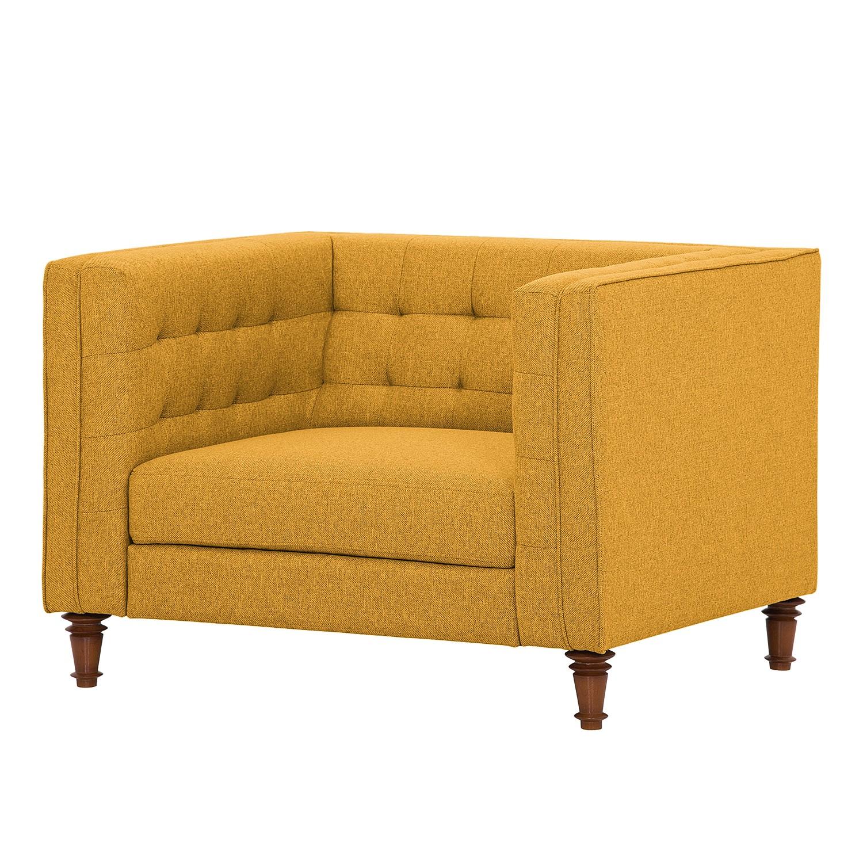 Sessel Buckingham Webstoff - Stoff Selva Senfgelb