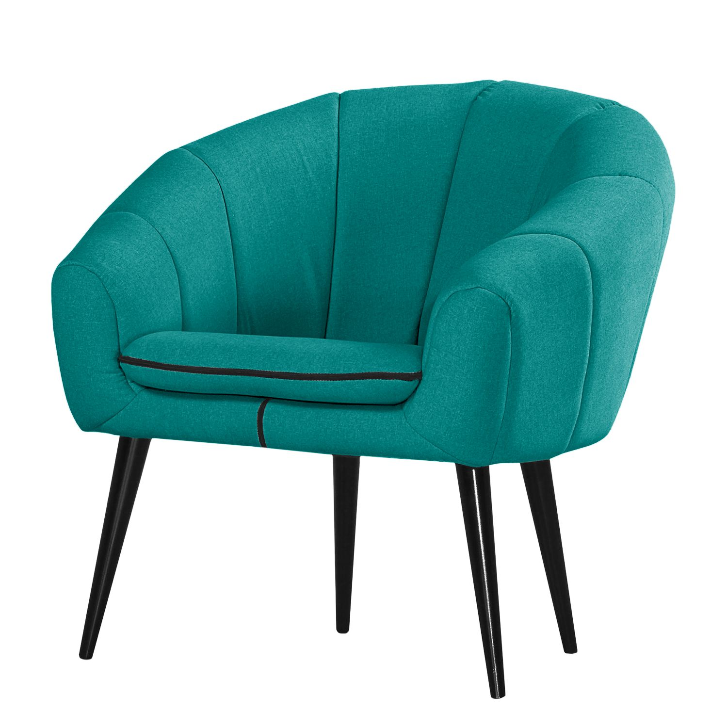 Fauteuil Buttlar - Tissu - Turquoise, Norrwood