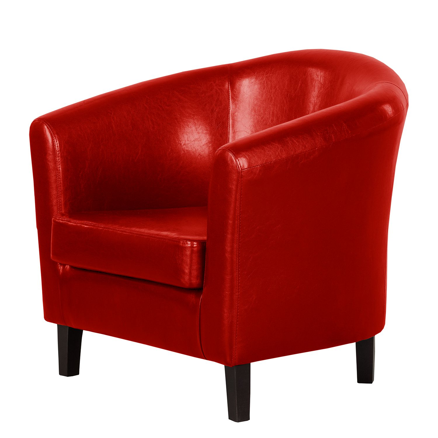 Fauteuil Caledon - Imitation cuir - Rouge, Red Living