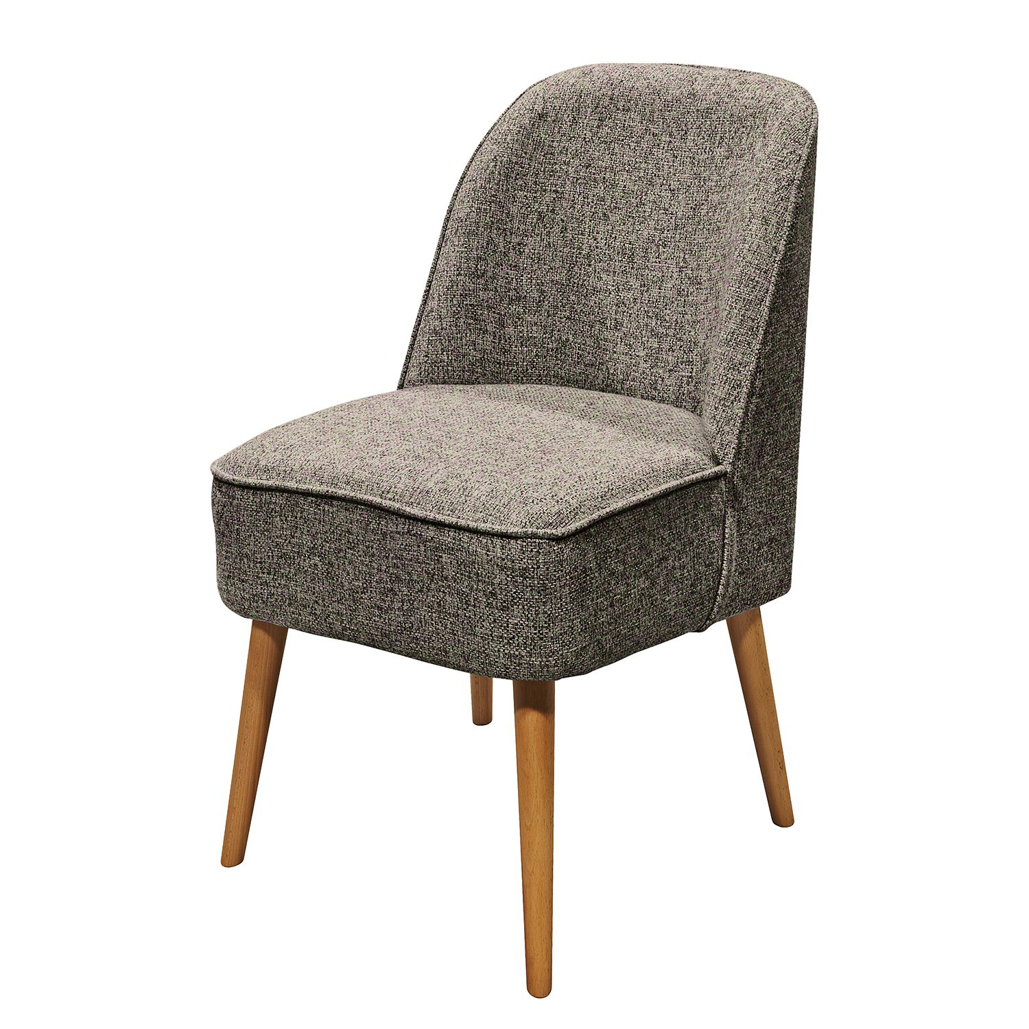 Fauteuil Capain - Tissu - Marron / Gris, mooved