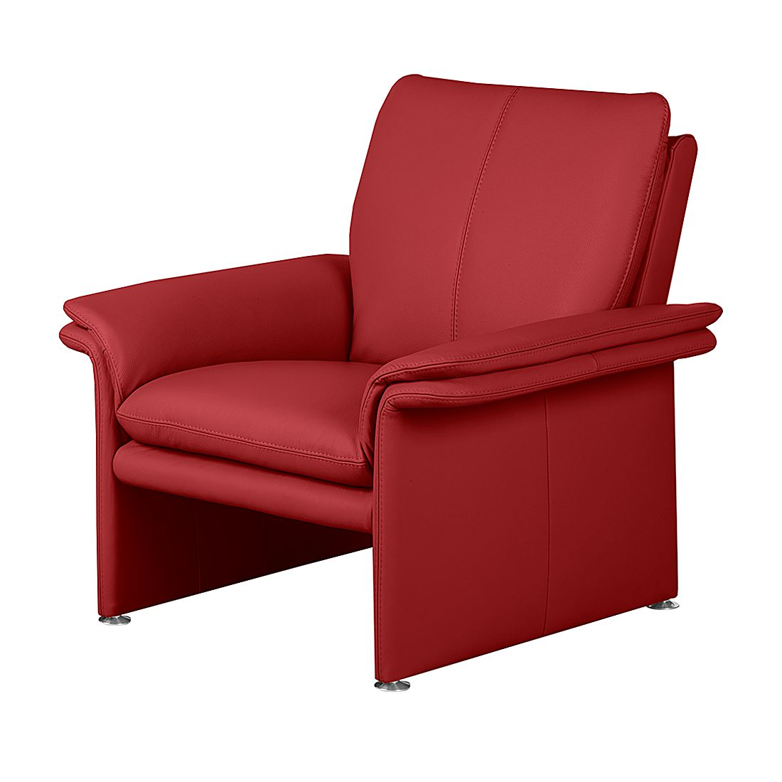 Fauteuil Capri - Cuir véritable rouge, Nuovoform