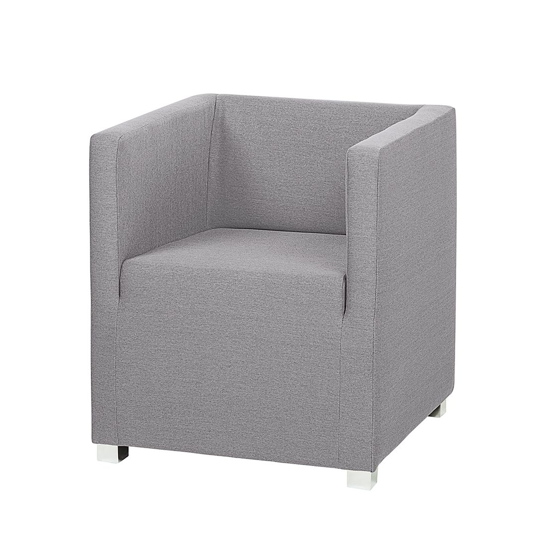 Fauteuil Carmen - Tissu gris, mooved