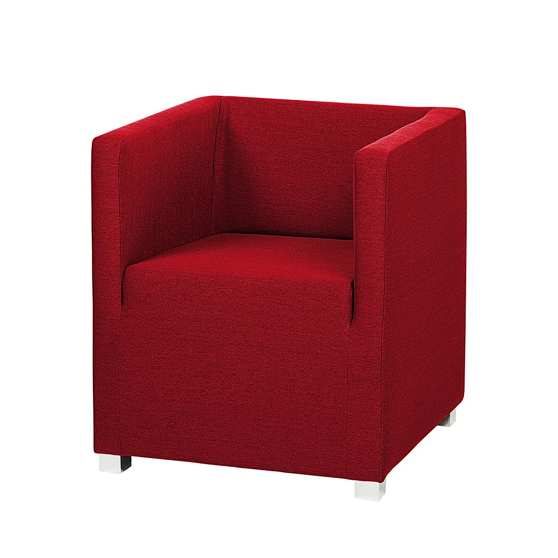 Fauteuil Carmen - Tissu rouge, mooved