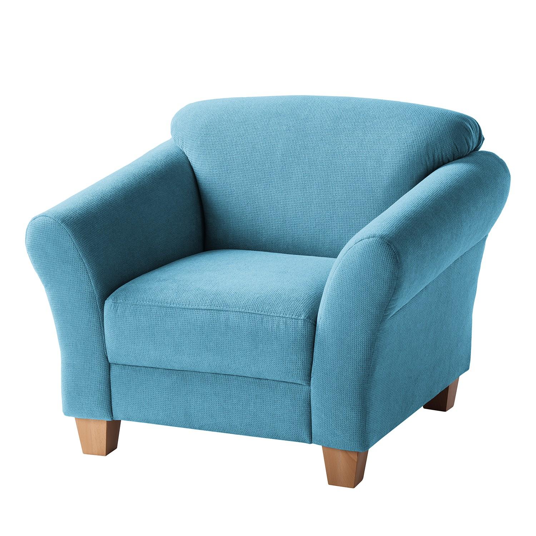 Fauteuil Cebu - Tissu - Bleu clair, Maison Belfort