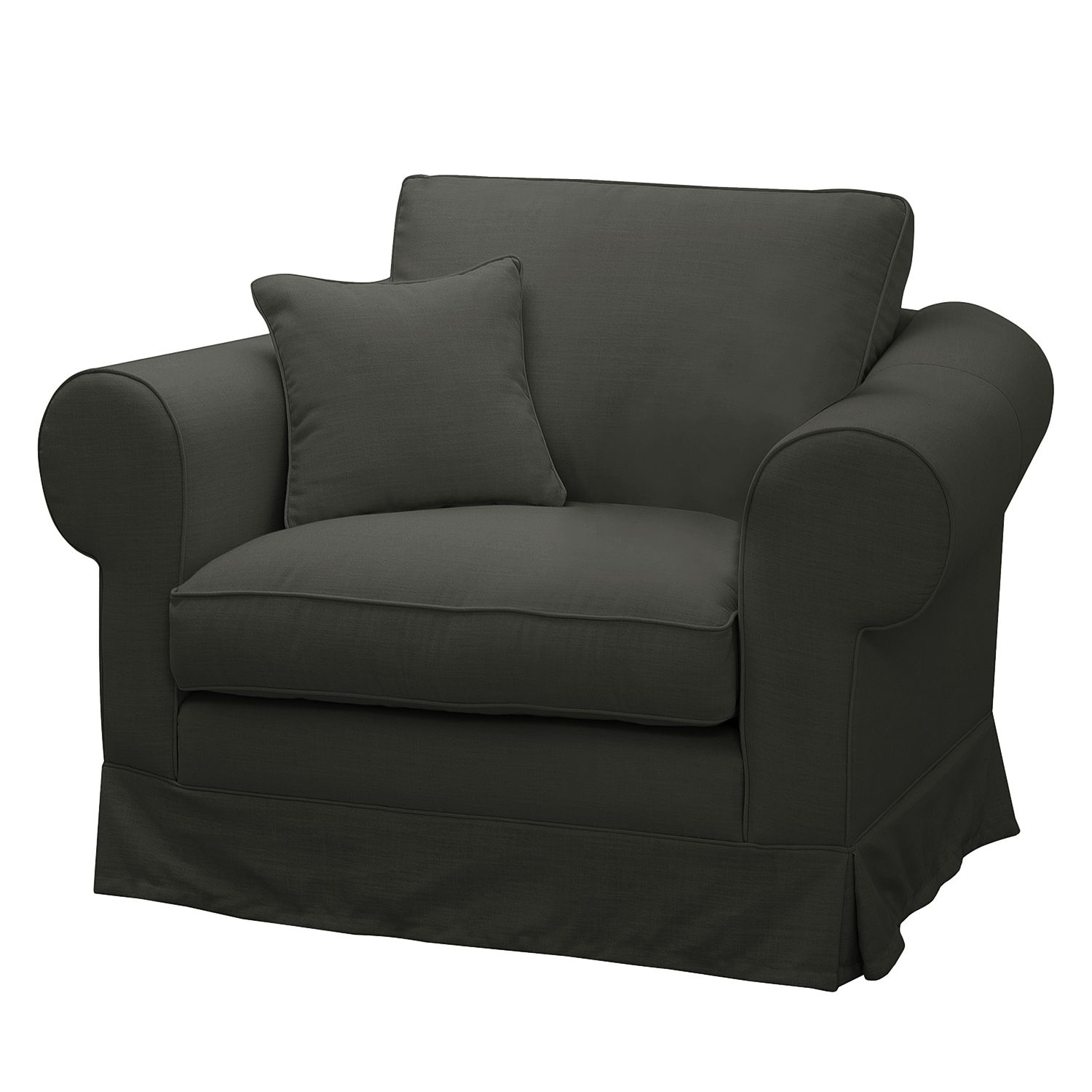 Fauteuil Cowling Tissu - Anthracite, Maison Belfort