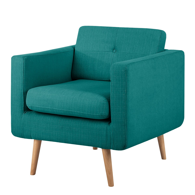 fauteuil croom ii tissu bleu p trole sans repose pieds morteens serrurieralaclef. Black Bedroom Furniture Sets. Home Design Ideas