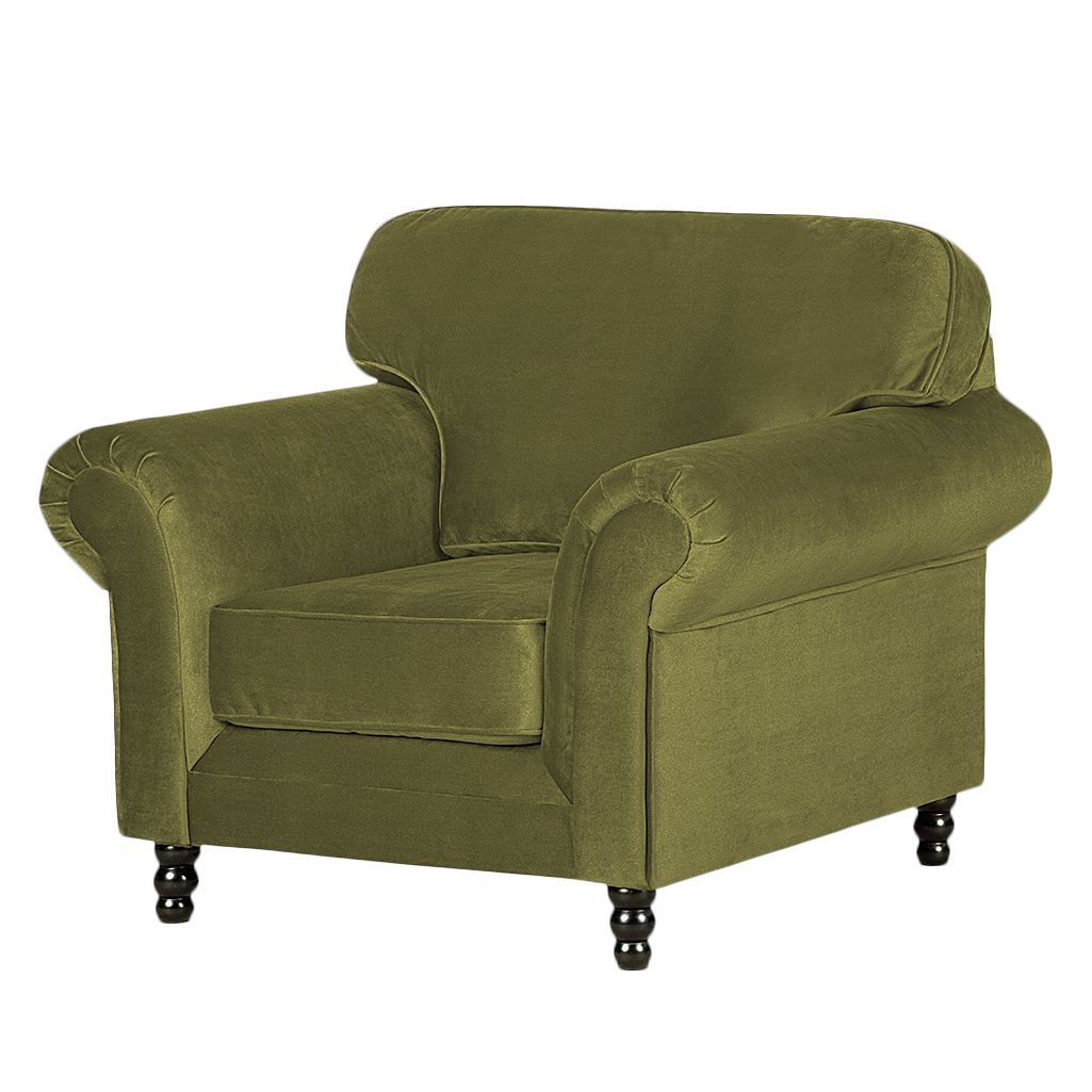 Fauteuil Dijon - Velours vert olive, Jack and Alice
