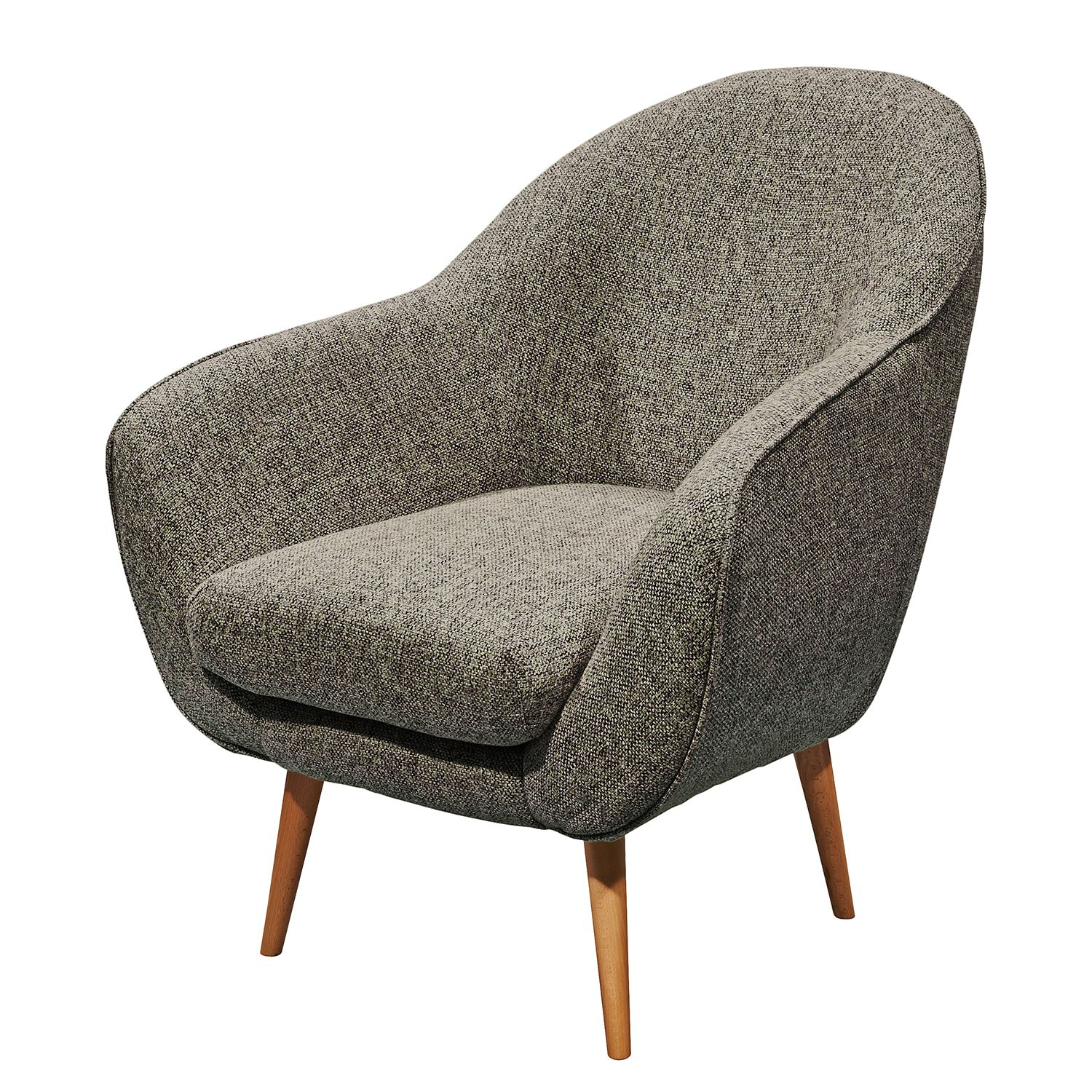 Fauteuil Donzac - Tissu - Marron / Gris, mooved