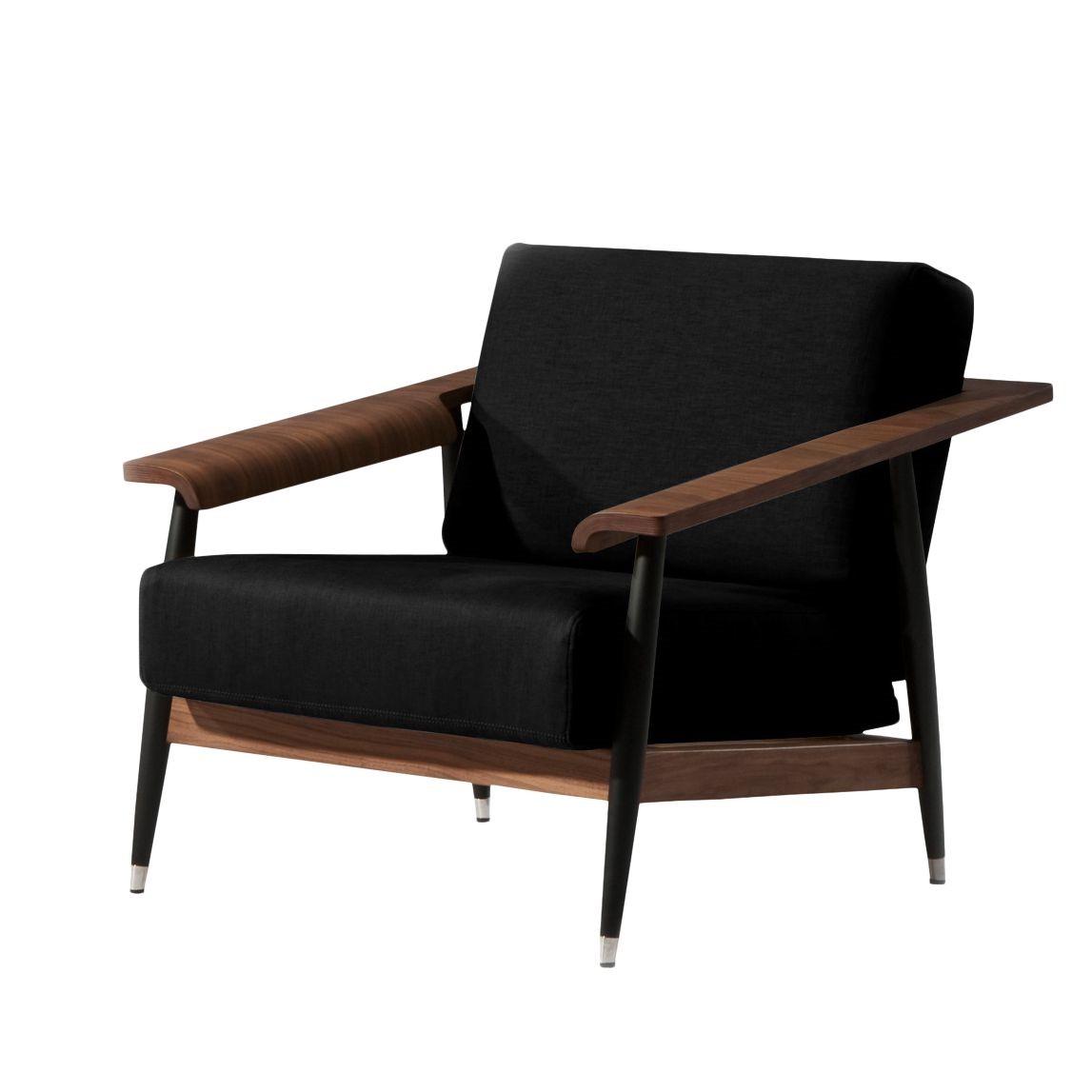 Sessel Dowel - Flachgewebe - Stoff Asa Schwarz, Studio Copenhagen kaufen