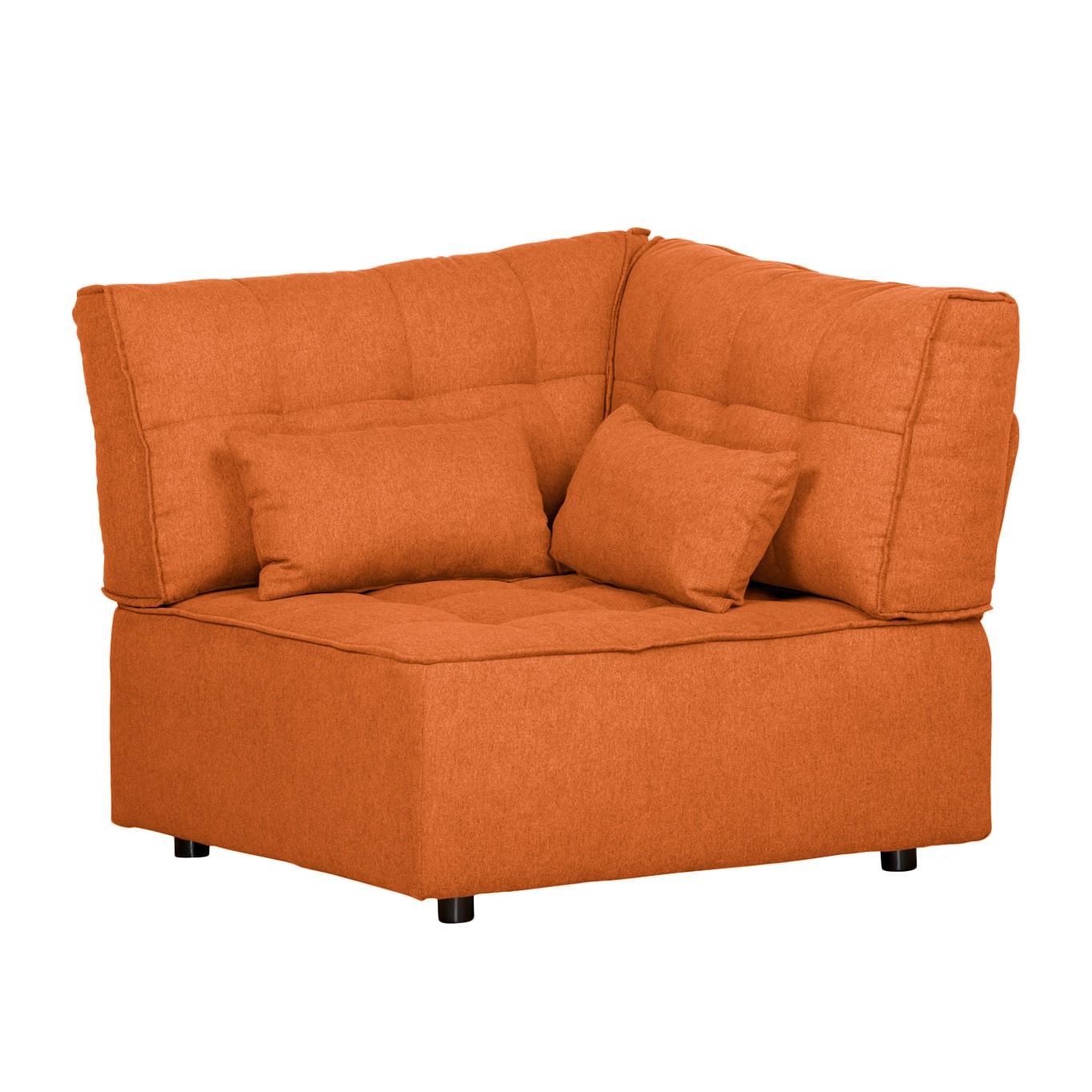 Sessel Eck-Modul Dale - Webstoff - Orange, Naturoo
