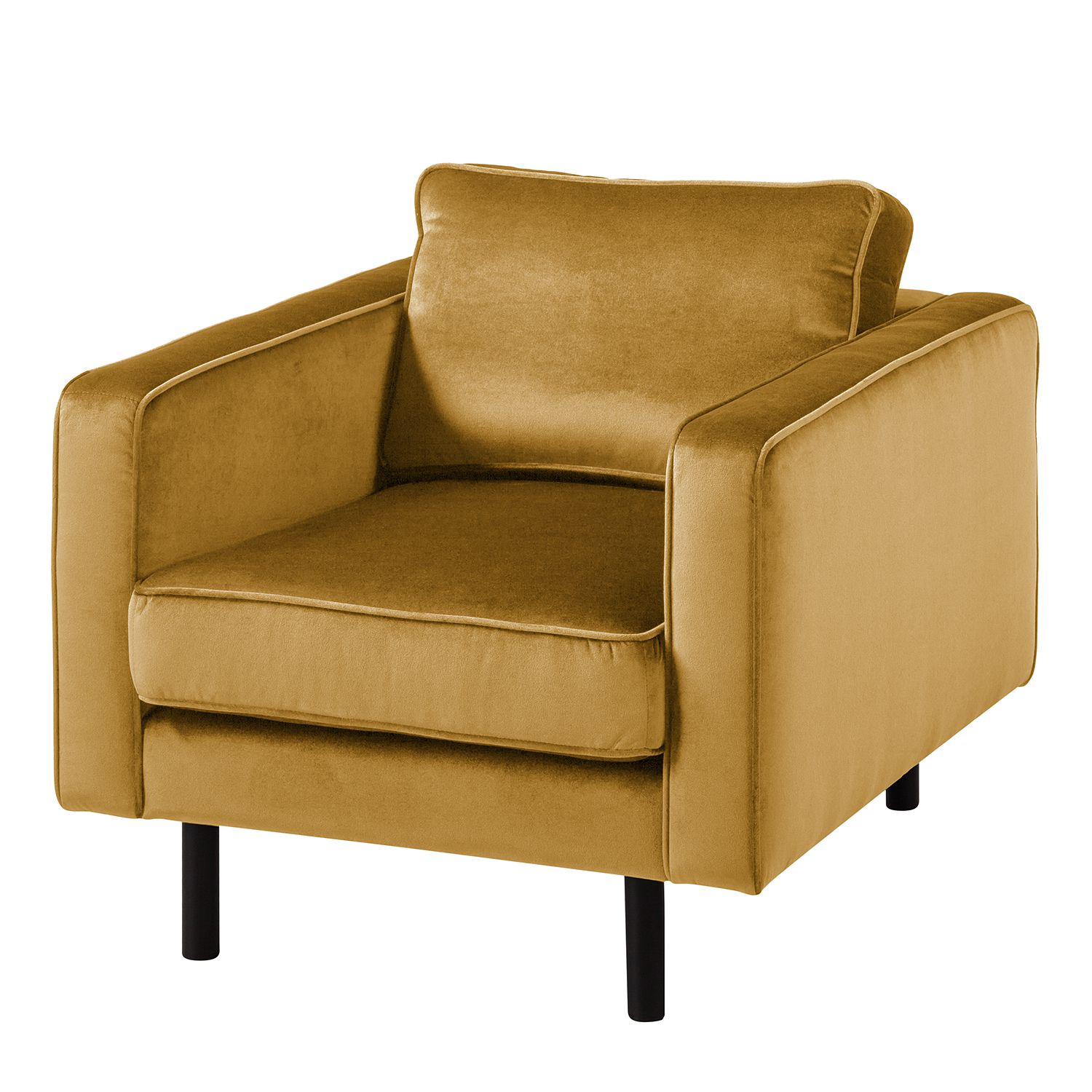 Fauteuil Edina - Velours - Miel, Eva Padberg Collection
