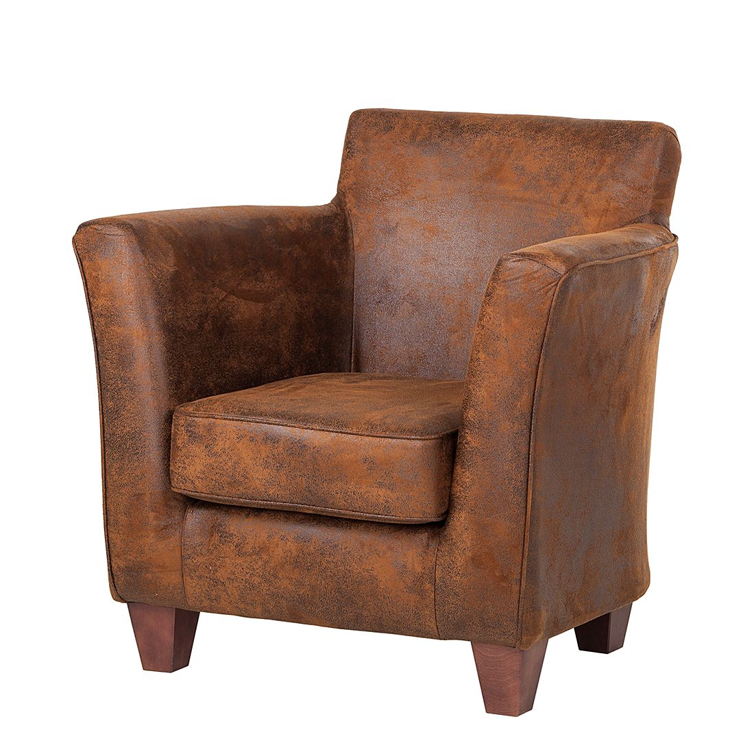 Fauteuil Even - Microfibre marron, ars manufacti