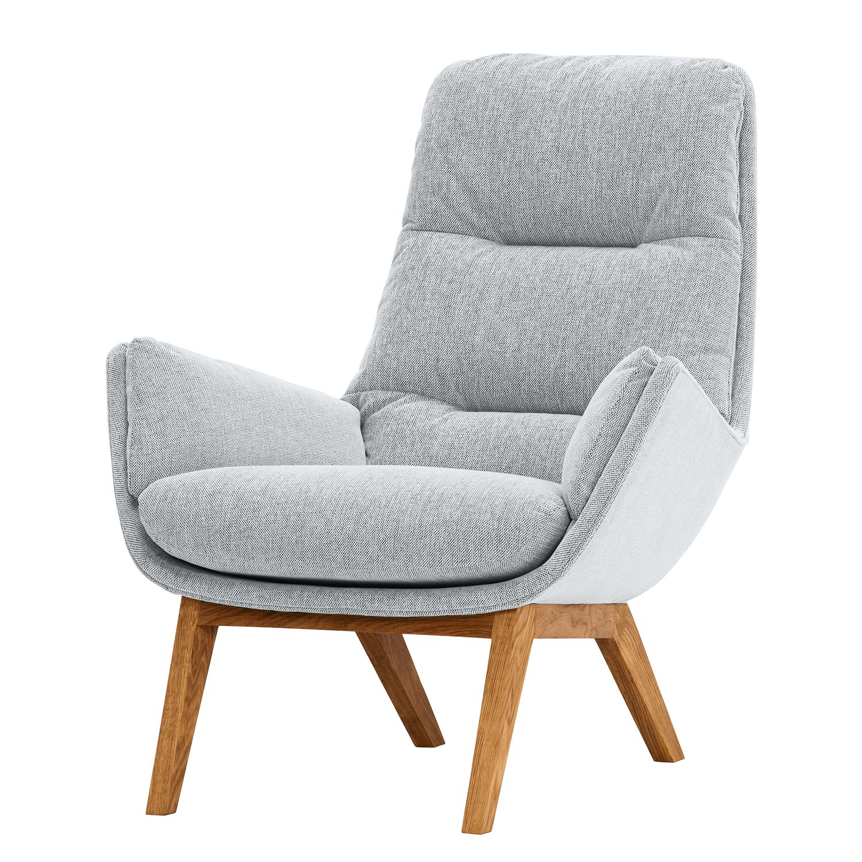 sessel garbo i webstoff eiche stoff anda ii silber. Black Bedroom Furniture Sets. Home Design Ideas