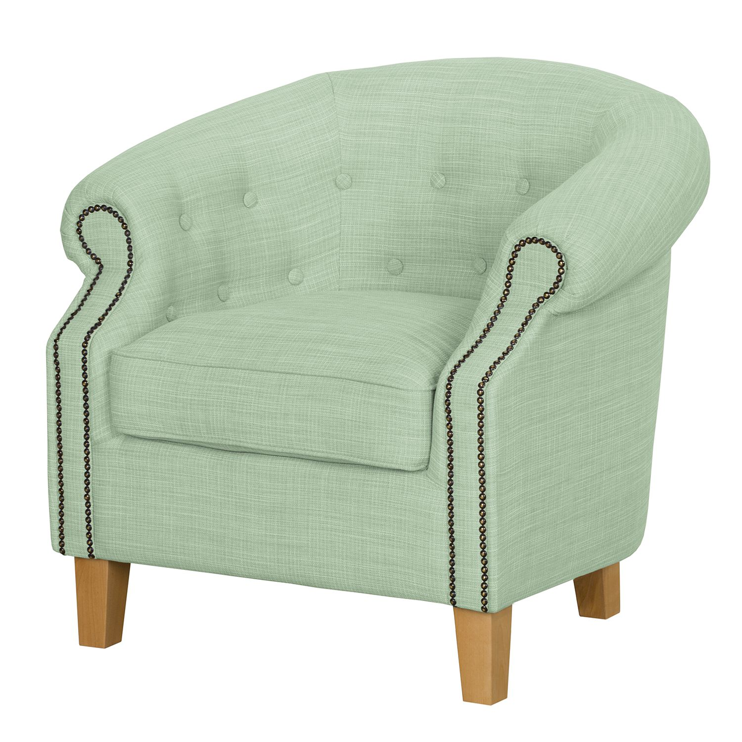 Fauteuil Great Hale I - Tissu - Menthe, Jack and Alice