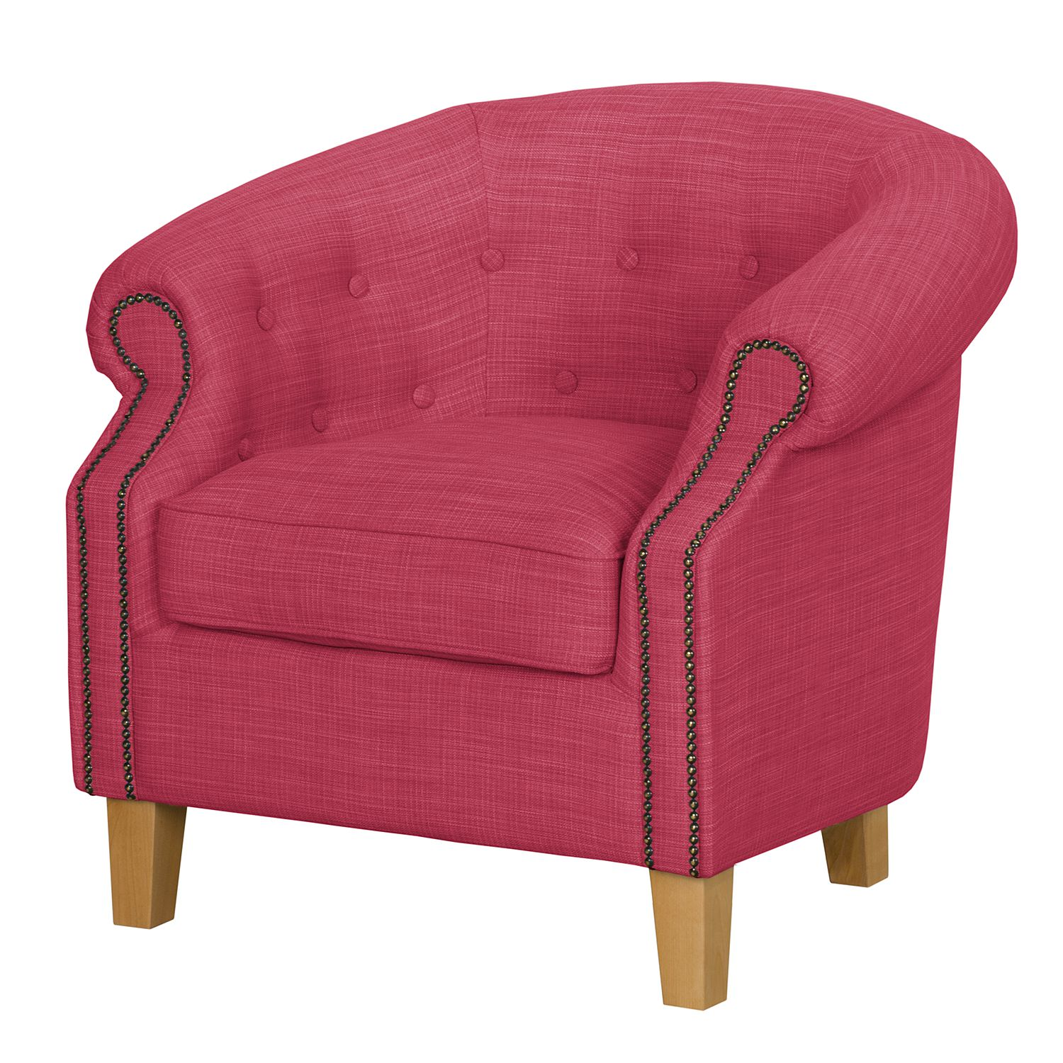 Fauteuil Great Hale I - Tissu - Framboise, Jack and Alice