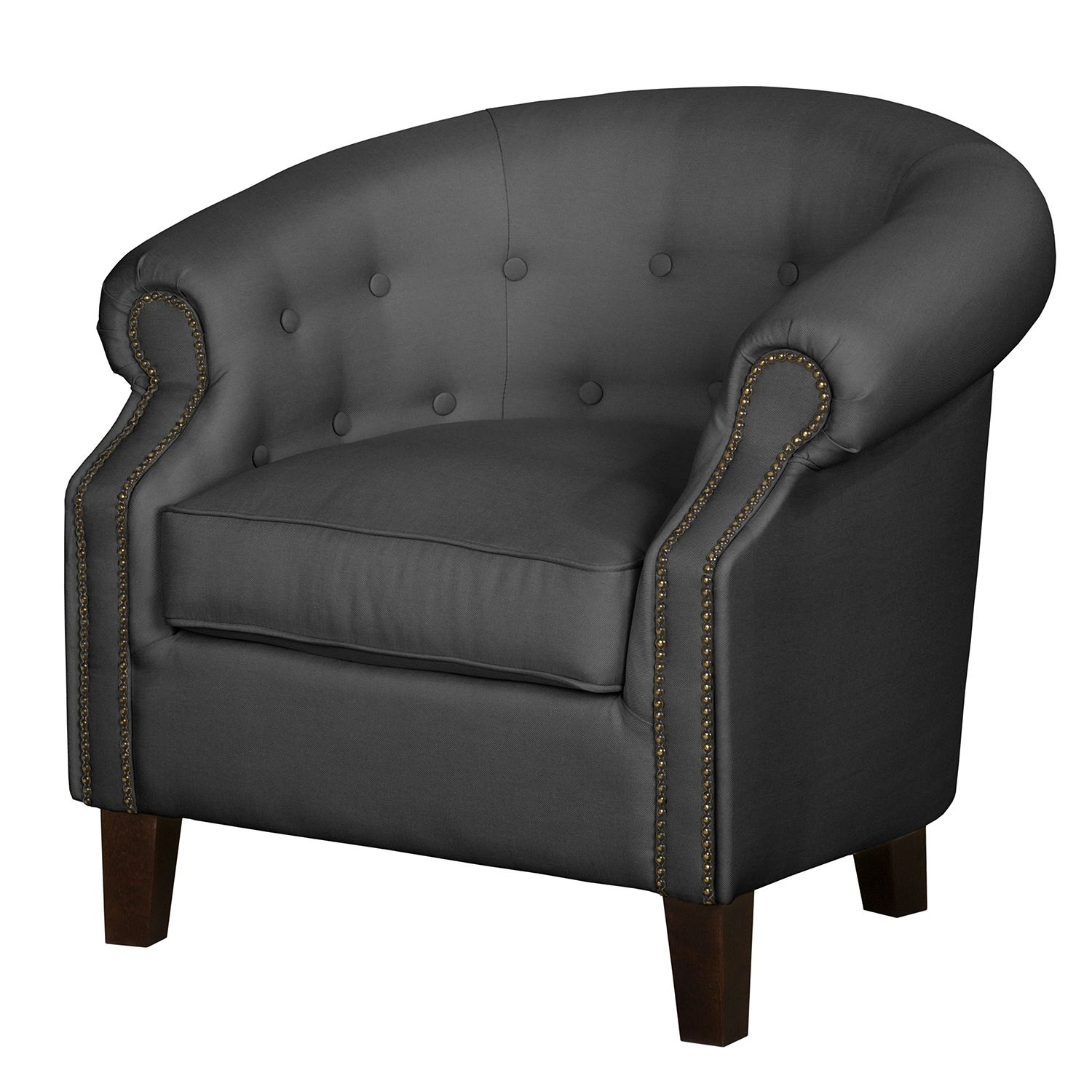Fauteuil Great Hale II - Tissu - Anthracite, Jack and Alice