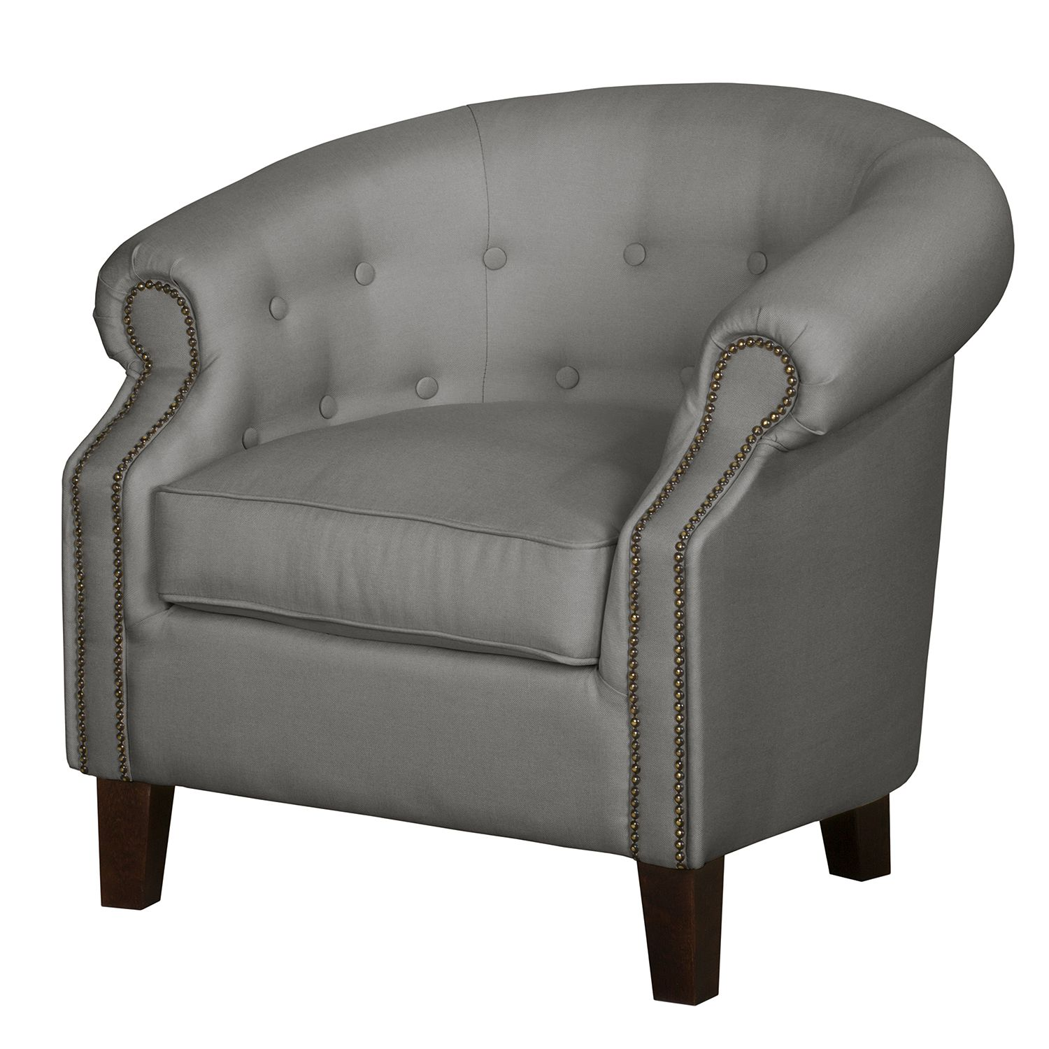 Fauteuil Great Hale II - Tissu - Gris, Jack and Alice