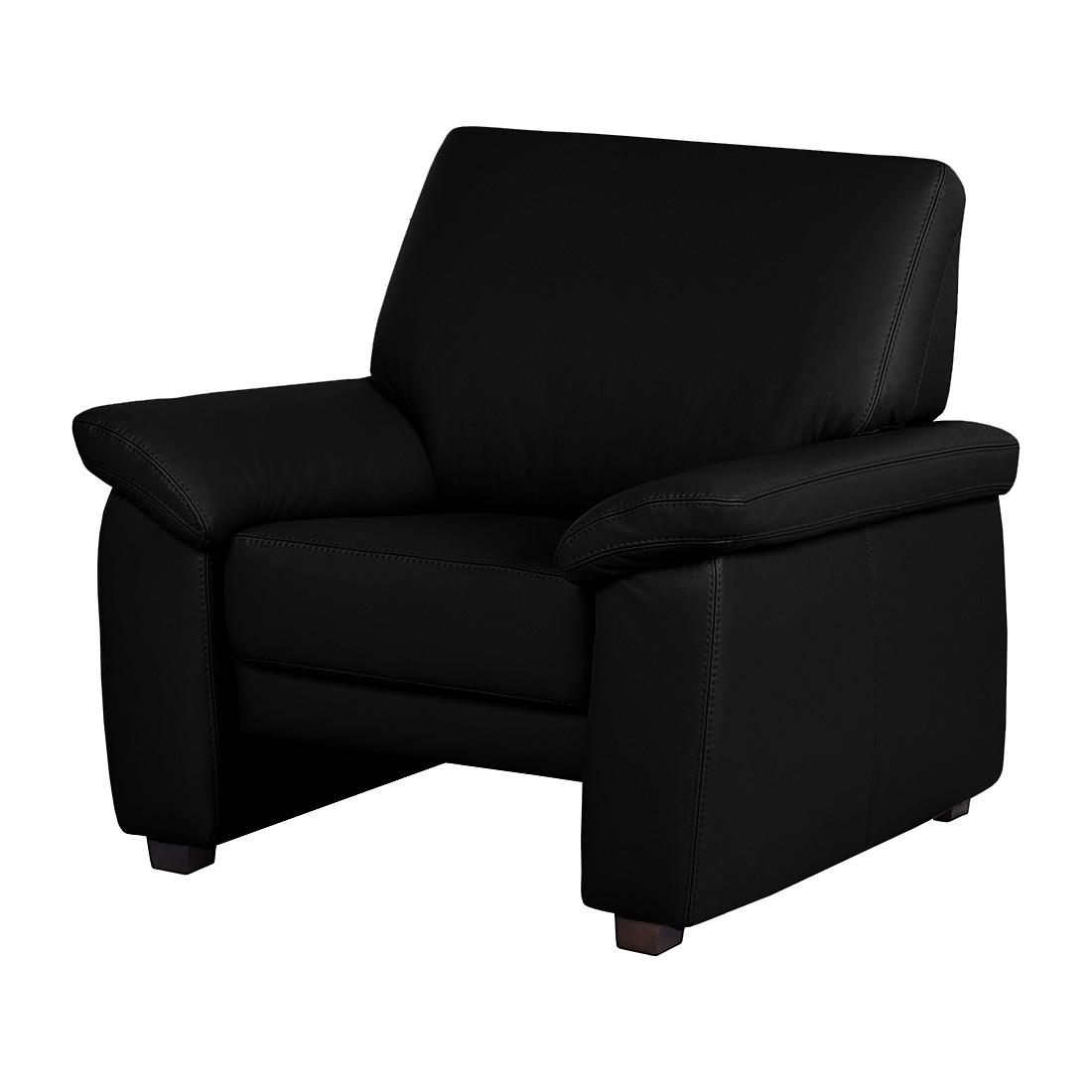 Fauteuil Grimsby - Cuir véritable noir, Nuovoform