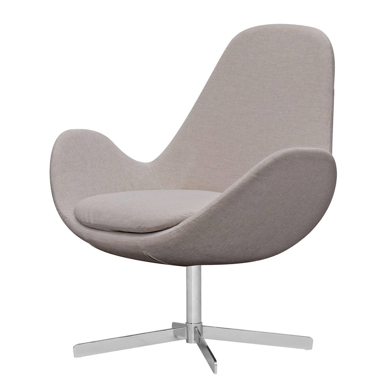 Sessel houston ii webstoff chrom stoff saia beige for Sessel beige stoff