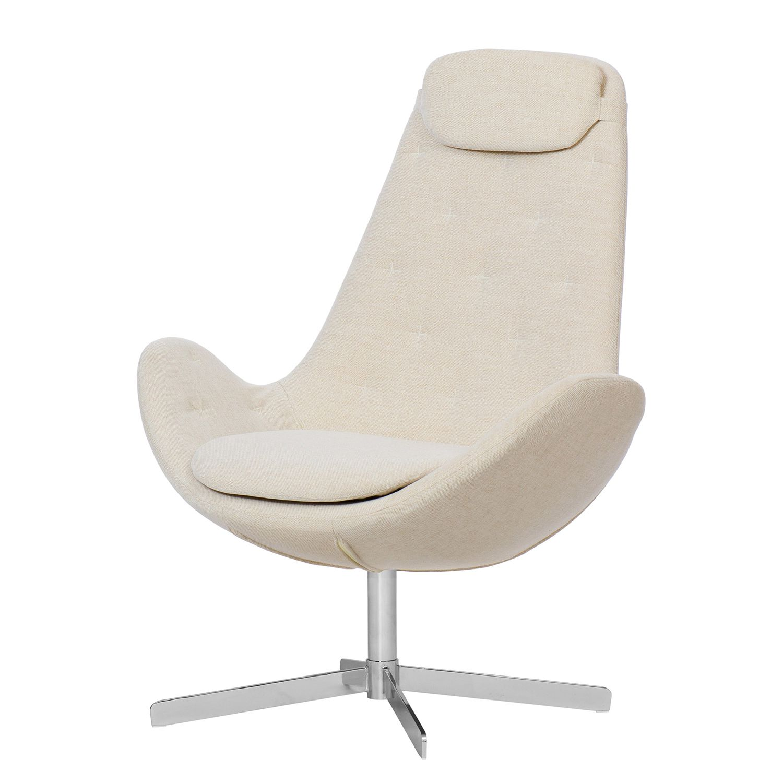 Sessel houston iii webstoff chrom stoff saia beige for Sessel beige stoff