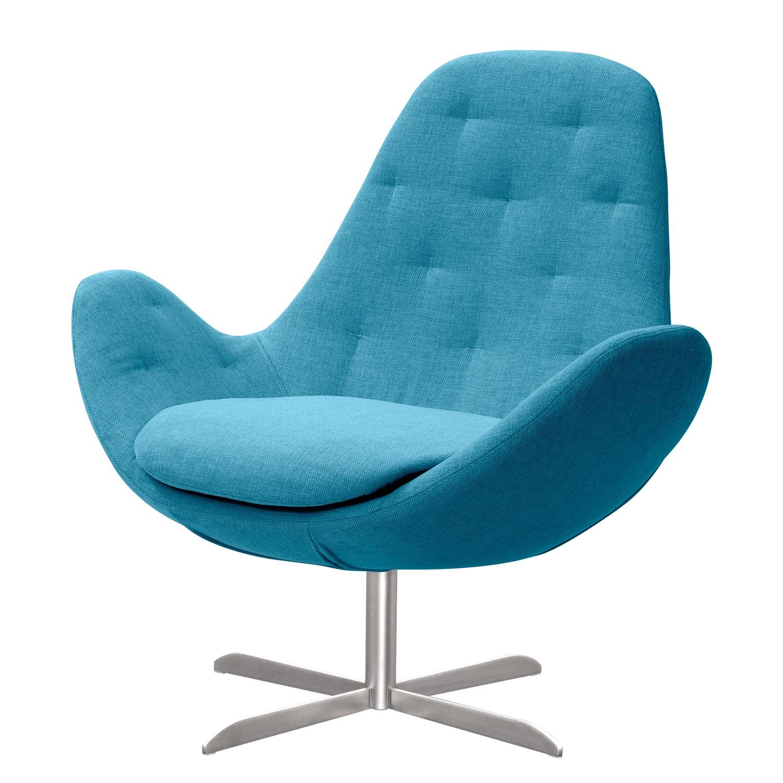 Fauteuil Houston IV geweven stof - Roestvrij staal - Stof Anda II Turquoise, Studio Copenhagen