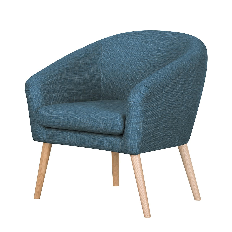 Fauteuil Ida I - Tissu - Bleu jean, Morteens