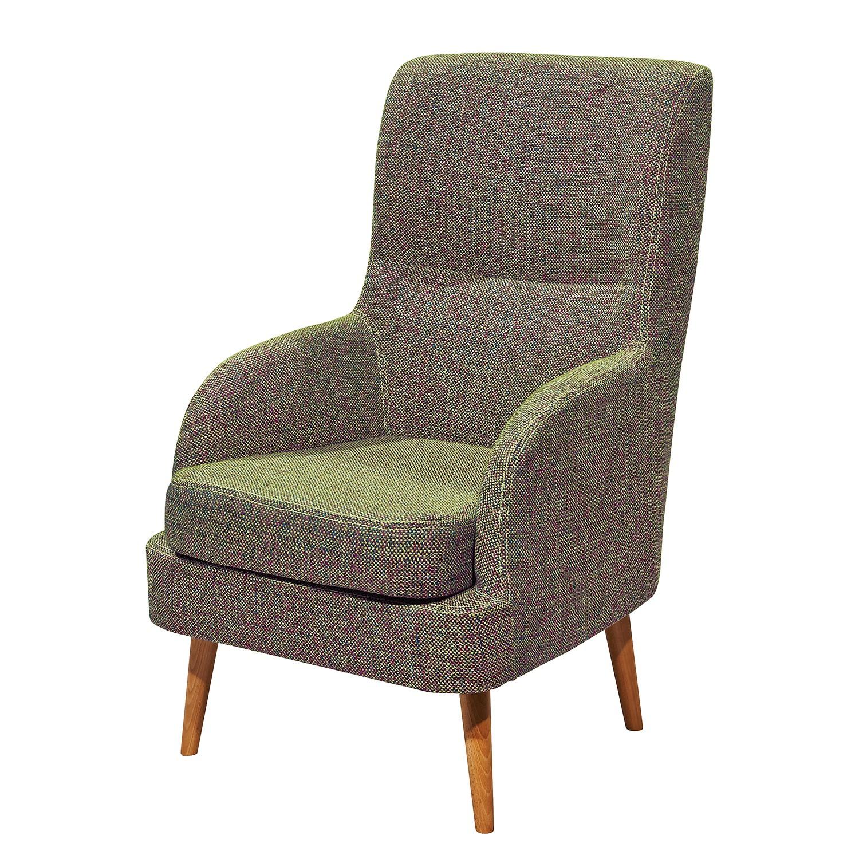 Fauteuil jaren tissu bleu vert mooved meubles en ligne for Ameublement en ligne