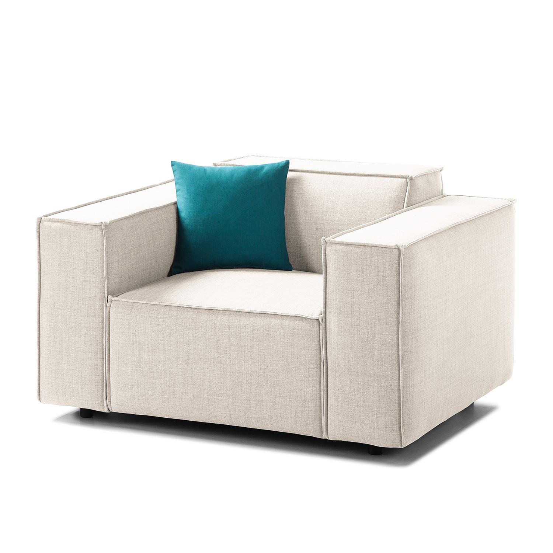 Sessel Kinx Webstoff - Stoff Milan Altweiß