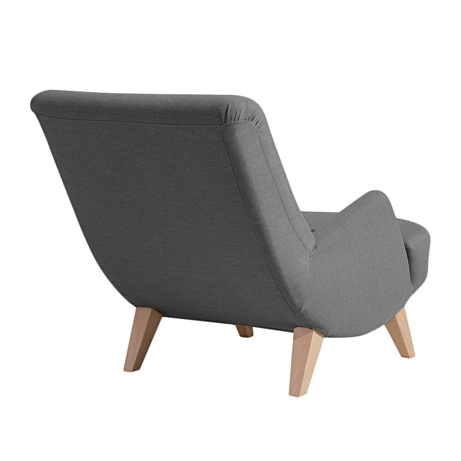 Ohrensessel modern mit hocker for Roter sessel mit hocker