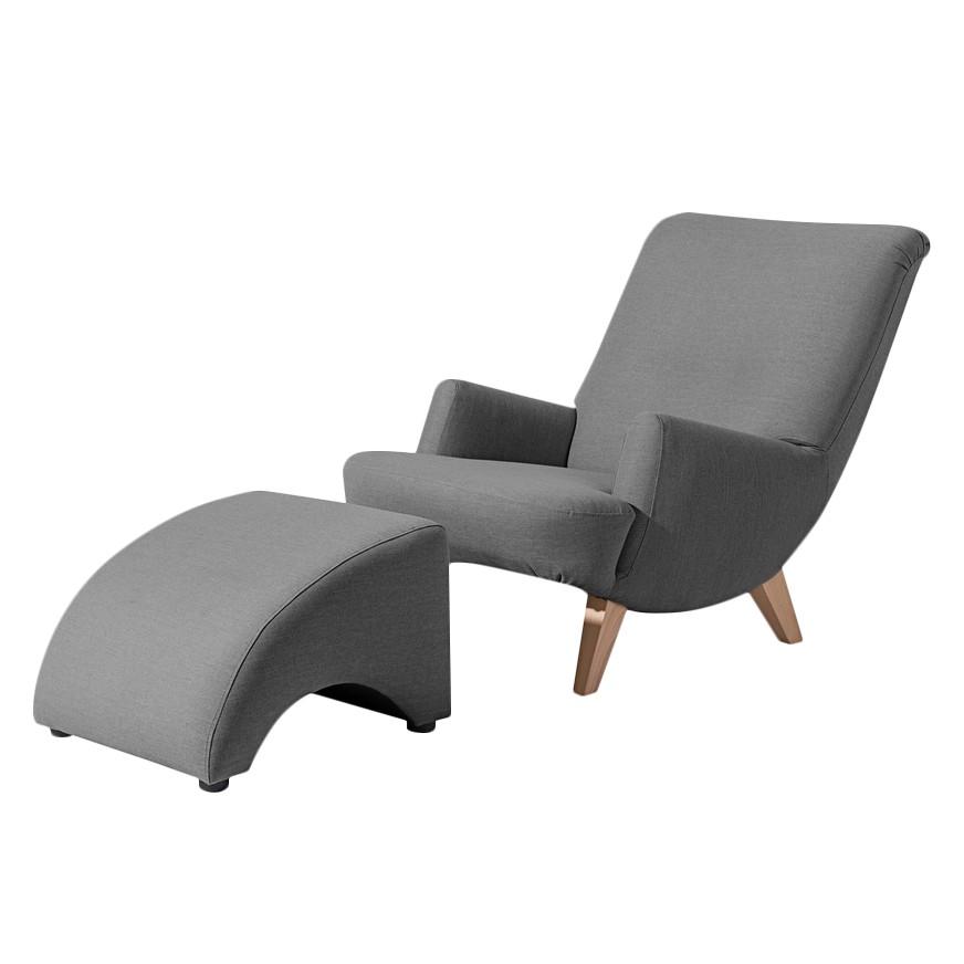 sessel kiruna mit hocker webstoff anthrazit max winzer g nstig bestellen. Black Bedroom Furniture Sets. Home Design Ideas