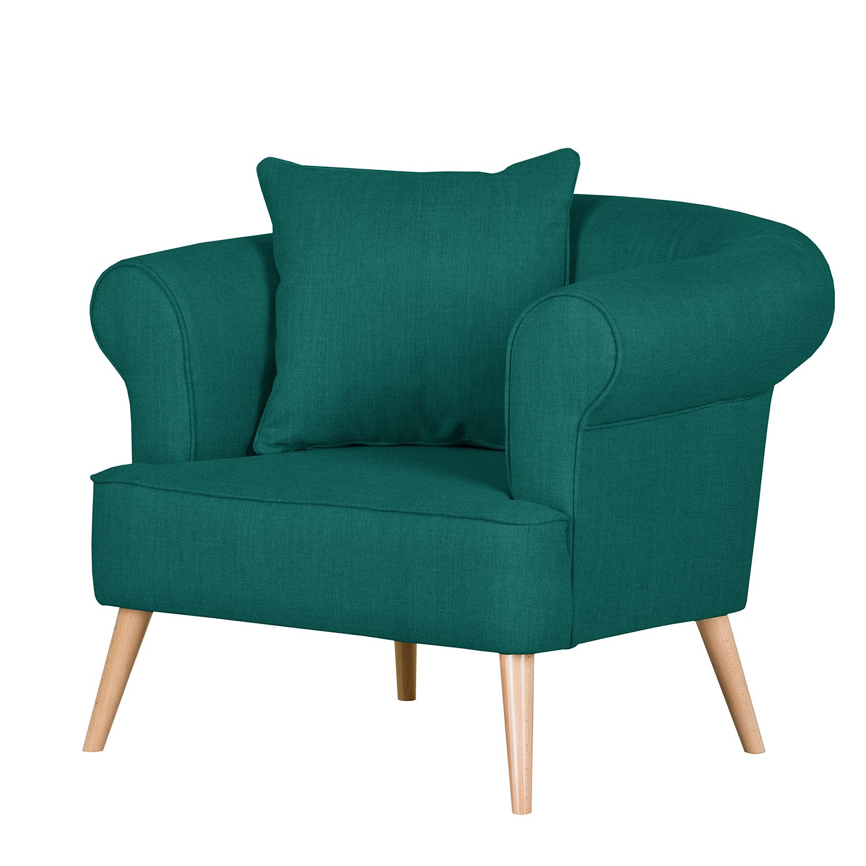 Fauteuil Lilou - Tissu - Vert turquoise, Morteens