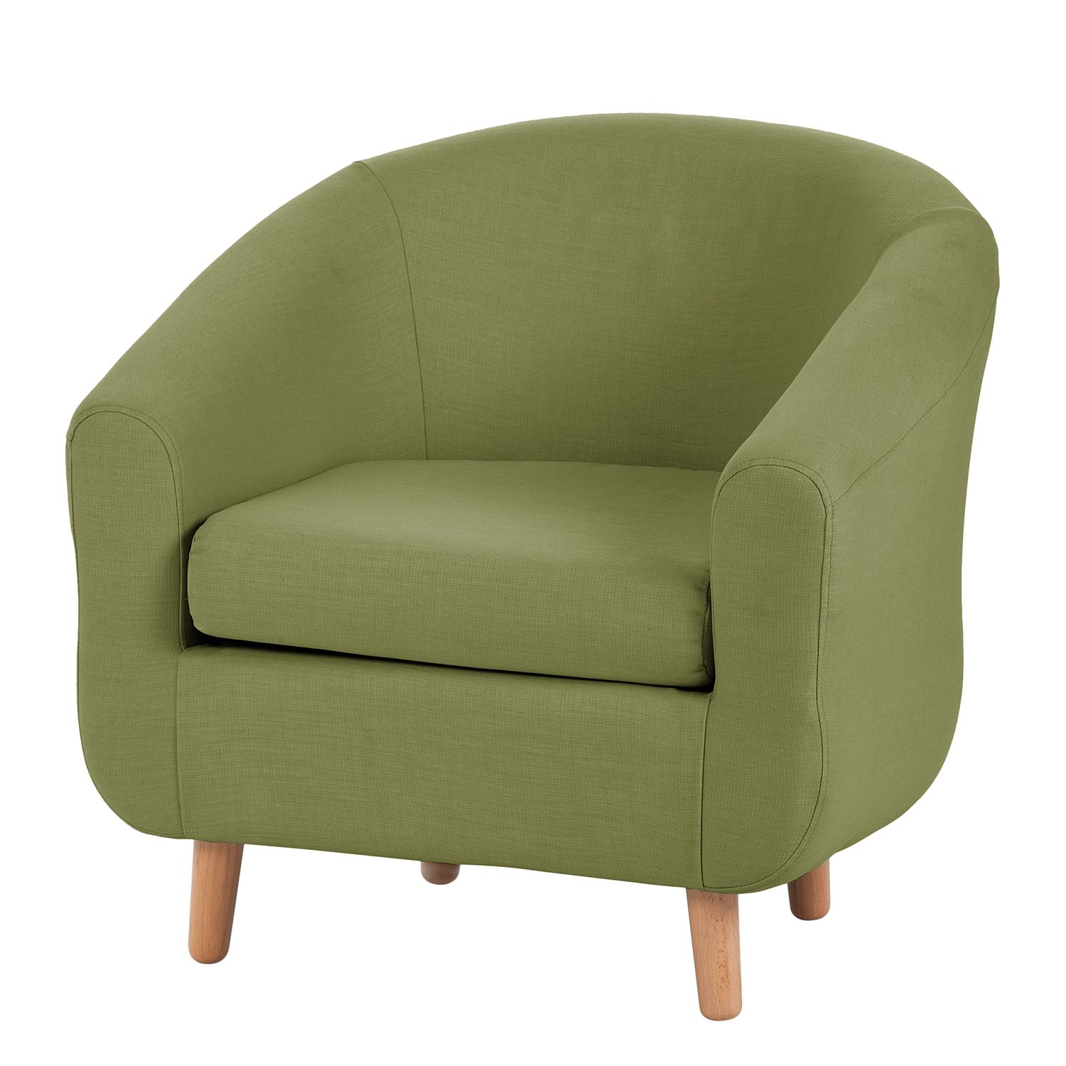 Fauteuil Little - Tissu vert olive, mooved
