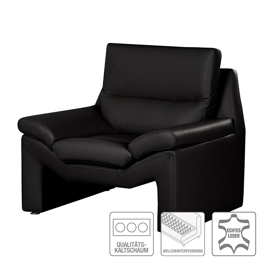 sessel longford echtleder schwarz nuovoform bestellen. Black Bedroom Furniture Sets. Home Design Ideas