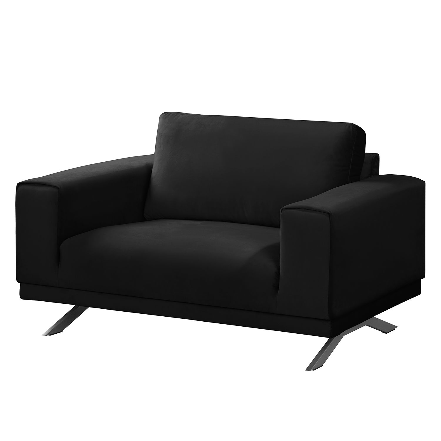 Fauteuil Lorcy - Velours - Anthracite, Fredriks