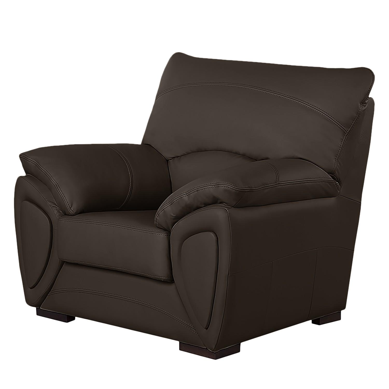fauteuil luzzi imitation cuir marron vintage fredriks. Black Bedroom Furniture Sets. Home Design Ideas