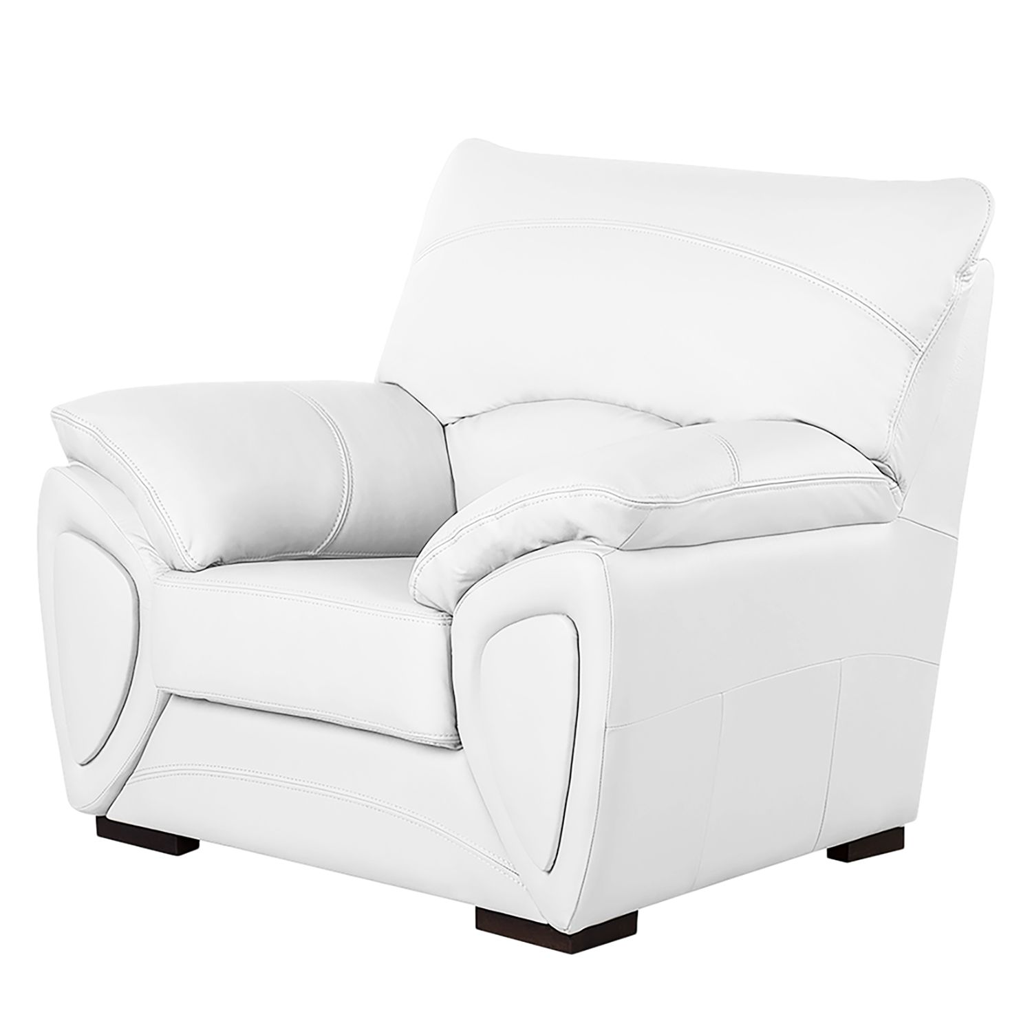 fauteuil luzzi imitation cuir blanc fredriks. Black Bedroom Furniture Sets. Home Design Ideas