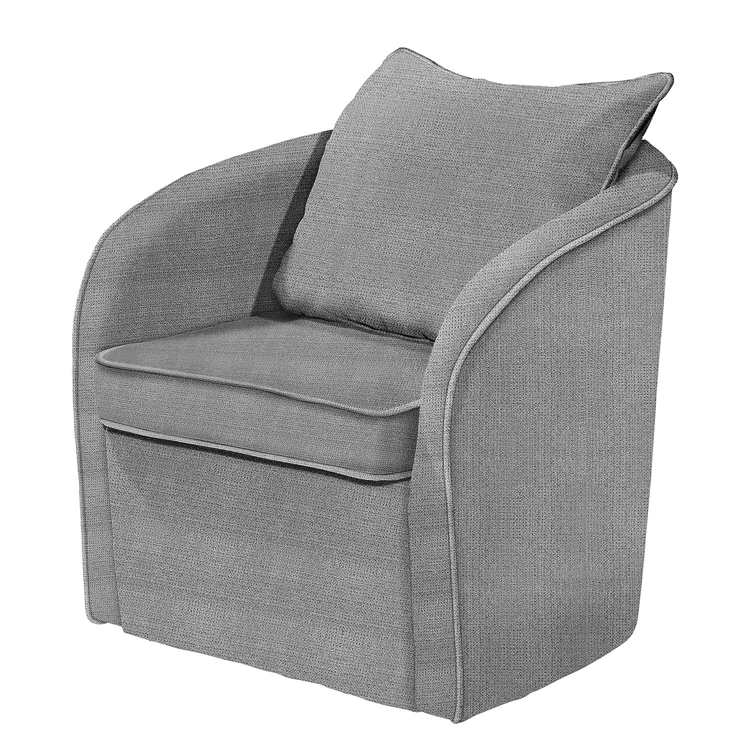 Fauteuil Marcy - Tissu - Gris, mooved