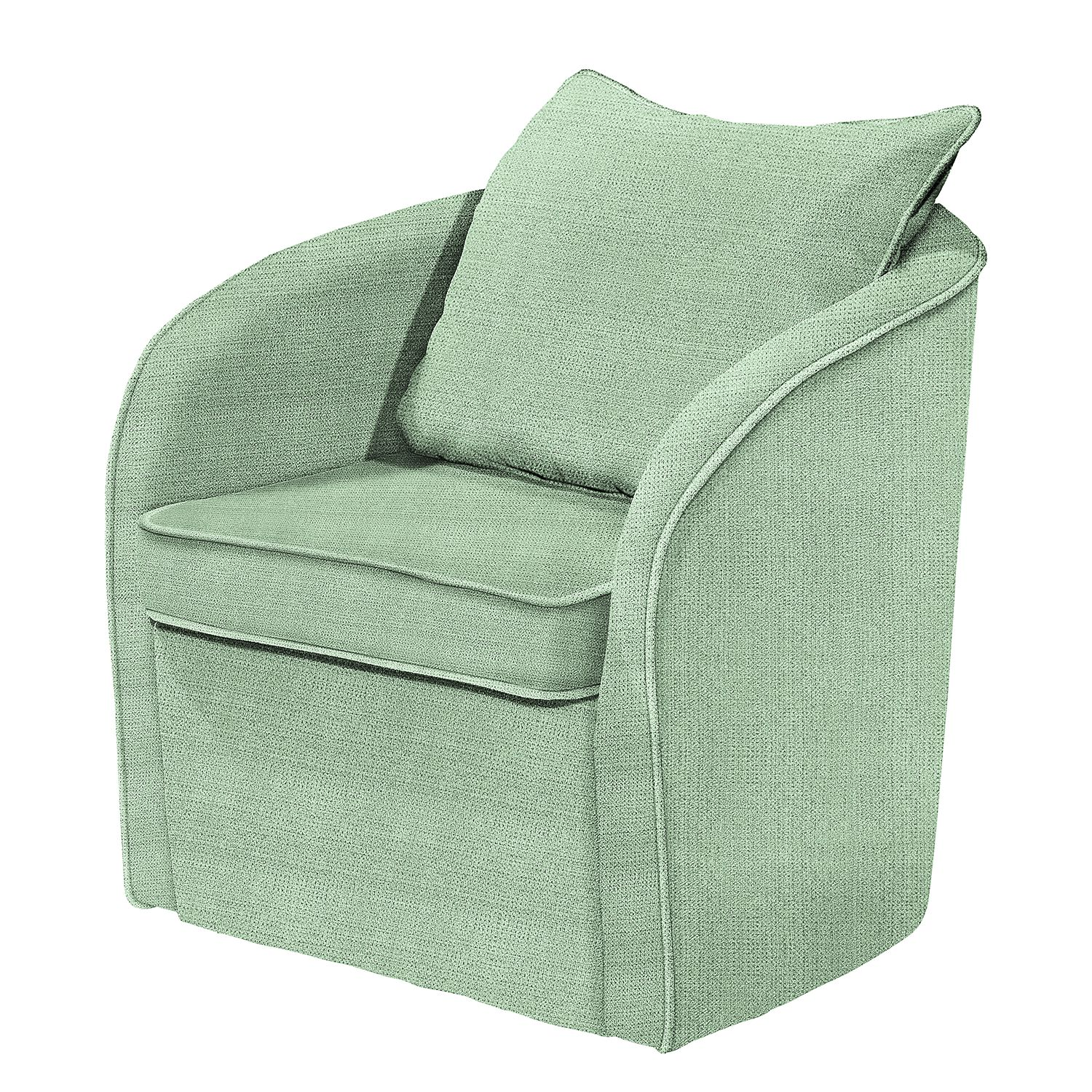 Fauteuil Marcy - Tissu - Menthe, mooved